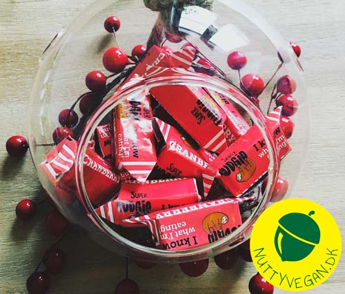 veganske karameller - super fudgio cranberry fudges
