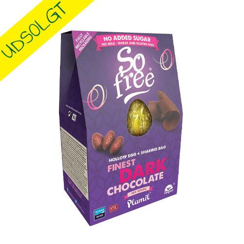 vegansk påskeæg mørk chokolade - so free påskeæg