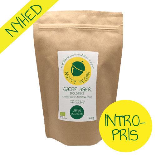 Økologiske gærflager køb - ernæringsgær fra Nutty Vegan