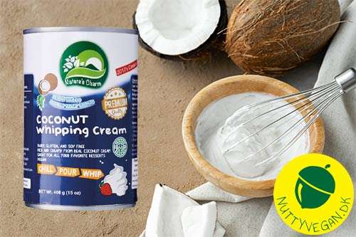 kokosfløde til vegansk flødeskum - natures charm kokosflødeskum