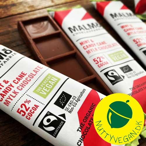 malmö chokladfabrik candy cane vegan chokolade