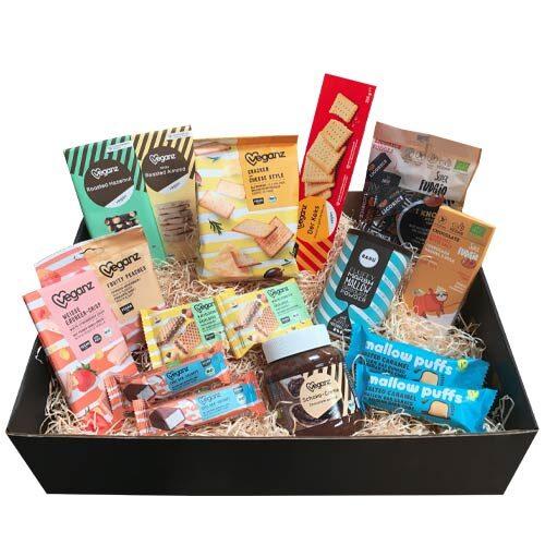 vegansk-gavekurv- vegansk-snackbox gave-til-veganer-
