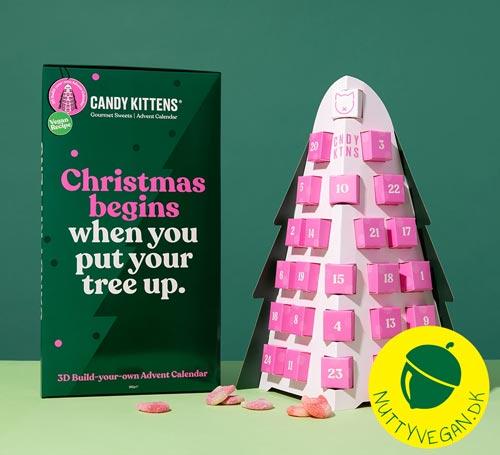 vegansk julekalender med slik - candy kittens advent tree køb
