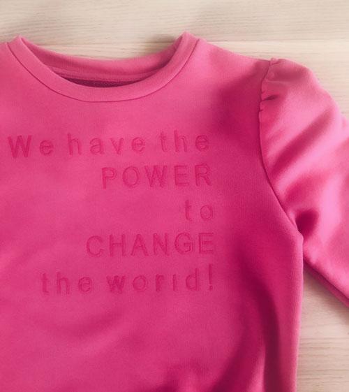 vegansk tøj - vegansk sweatshirt til piger