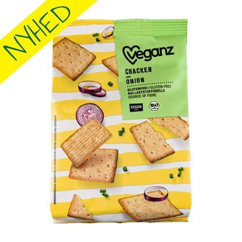 veganske kiks til ost - veganz crackers onion