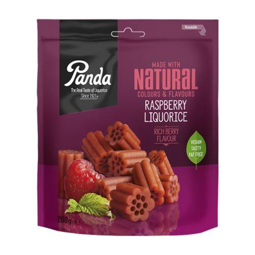panda vegansk lakrids med hindbær - vegansk slik