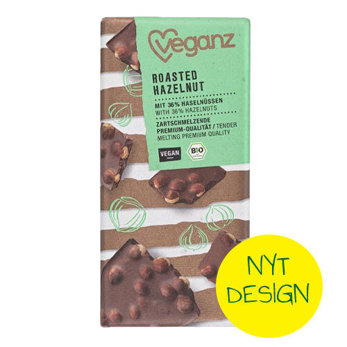 vegansk chokolade med nødder køb veganz roasted hazelnut-