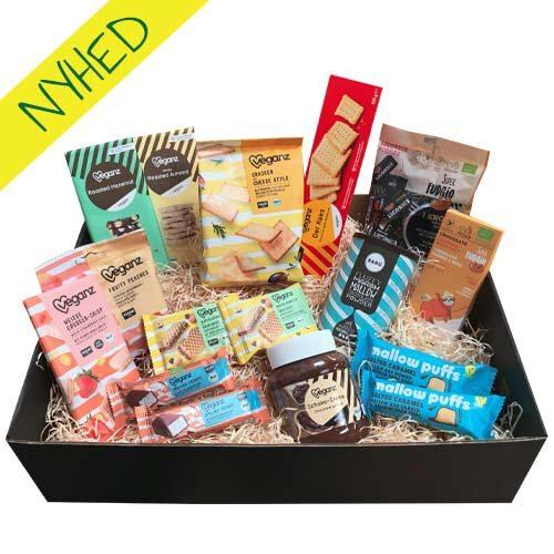 vegansk gavekurv - gave til veganer - vegansk snackbox