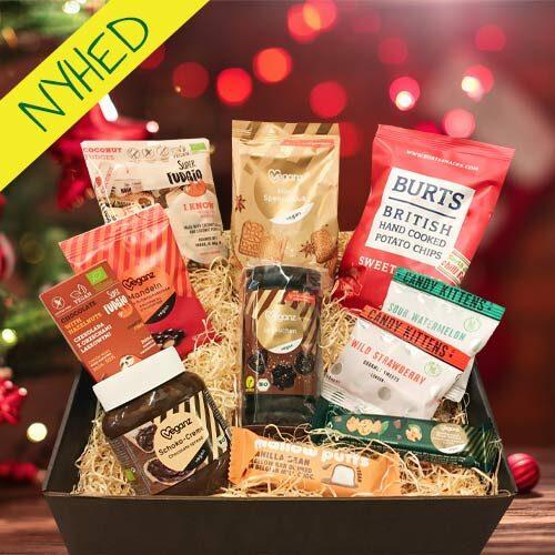 vegansk julekurv - gave til veganer - vegansk værtindegave