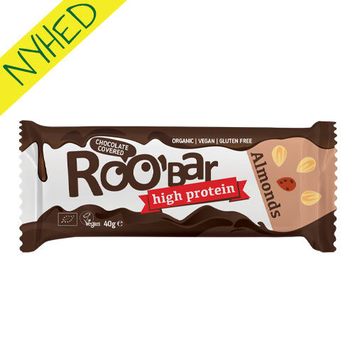 vegansk proteinbar - roobar proteinbar mandel - veganske snacks
