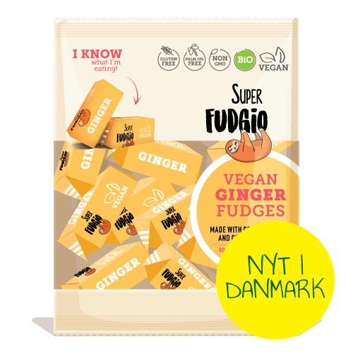 veganske karameller - super fudgio ginger fudges - vegansk slik