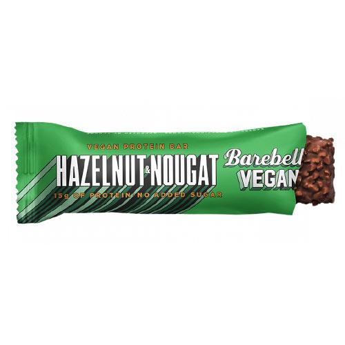 vegansk proteinbar - barebells vegan protein bar hazelnut nougat