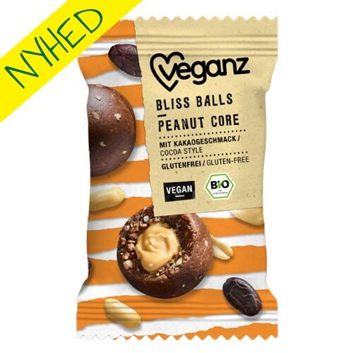 veganz bliss balls peanut core - veganske snacks