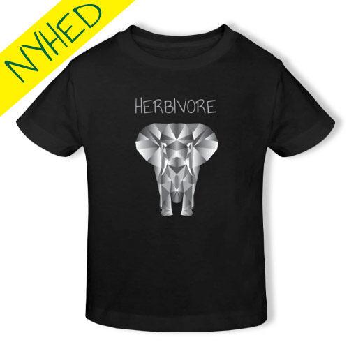 vegan t-shirt til børn - vegansk børnetøj - herbivore