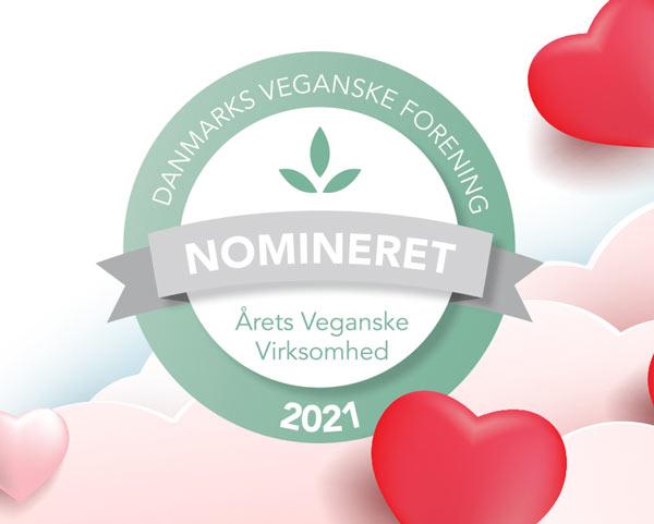 veganske produkter online - årets veganske virksomhed 2021
