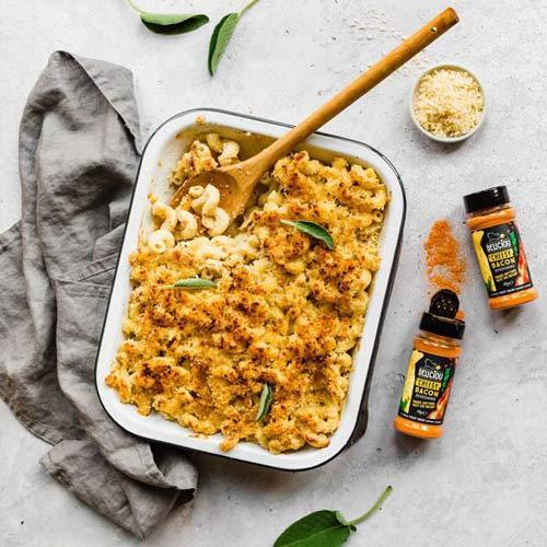 vegansk baconkrydderi med ostesmag - deliciou krydderier danmark
