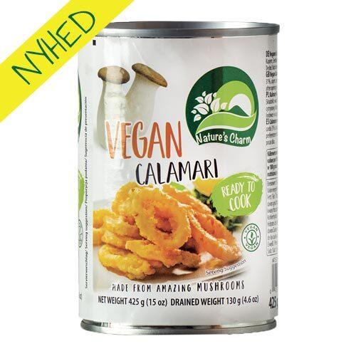 vegansk calamari - vegansk blæksprutte - natures charm produkter
