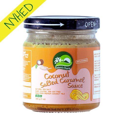 vegansk karamelsauce - natures charm salted caramel