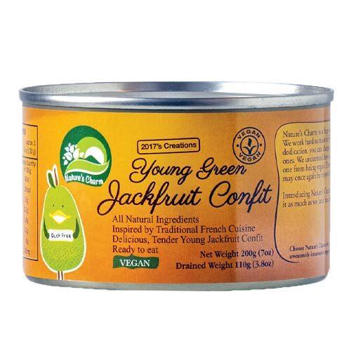 vegansk kød - vegansk and - jackfruit confit